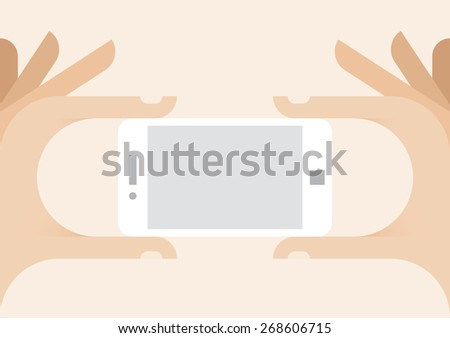 human hands holding white