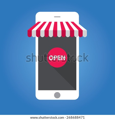 concept of online shop on