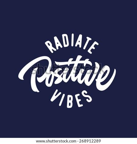 radiate positive vibes hand