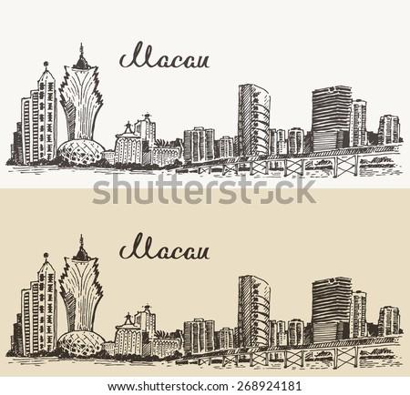 macau skyline  big city