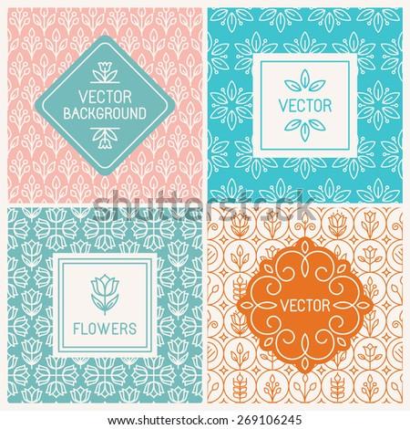 vector mono line graphic design