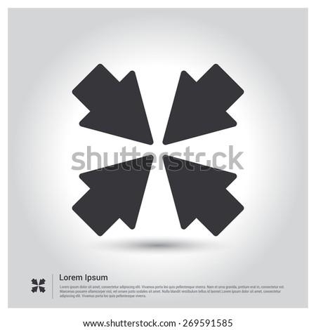 vector minimize  smaller icon
