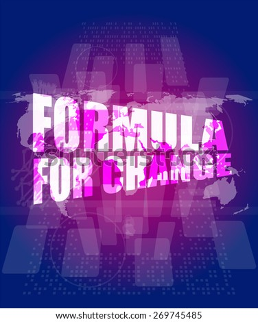 vector formula for change word