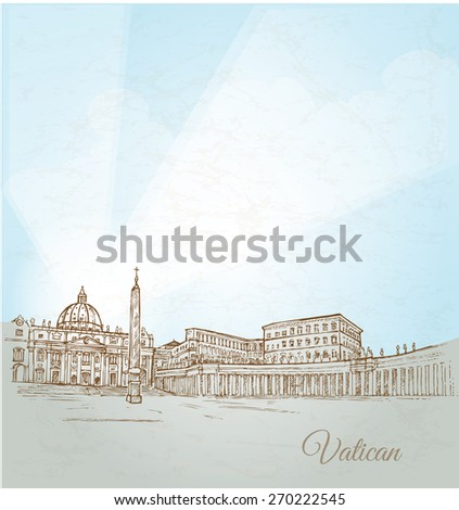 vatican city  background hand