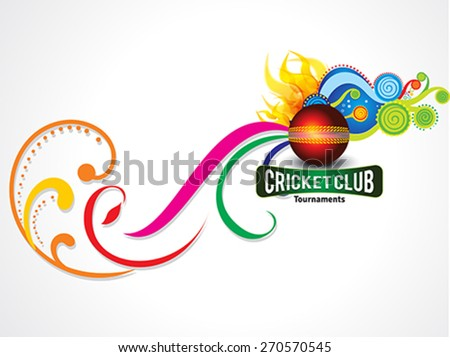 colorful cricket background