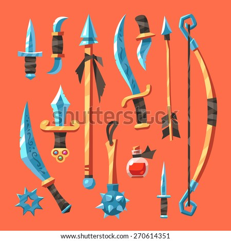set cold fantasy weapons