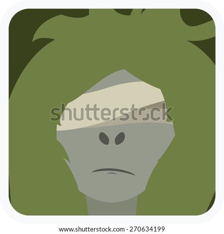 cartoon illustration of undead