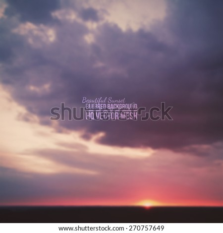 blurred vector beautiful epic