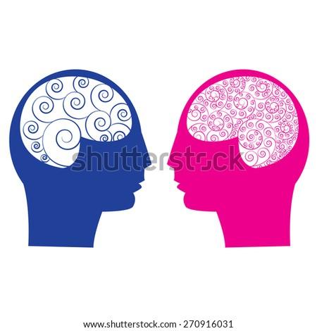 abstract male vs female brain