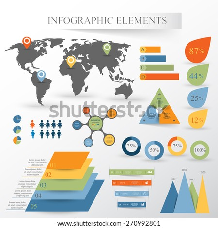 vector set of infographics