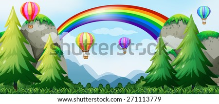 balloons flying in the sky over