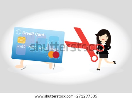 business woman running credit