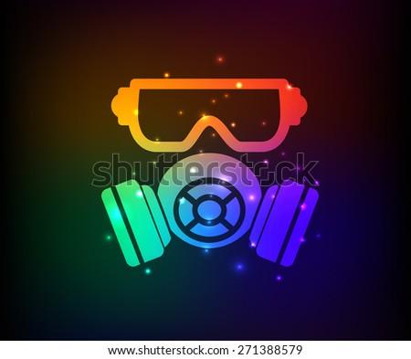 mask industry design on rainbow