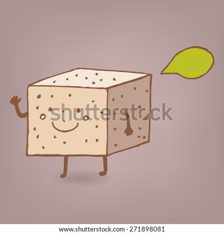 cute tofu vector character