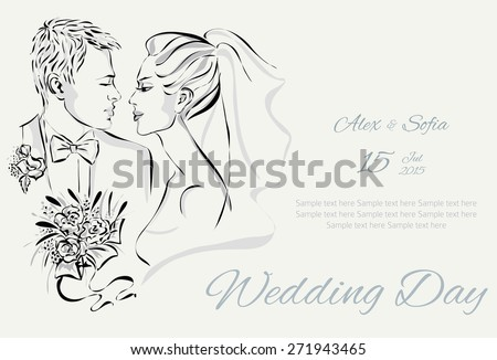wedding day invitation with