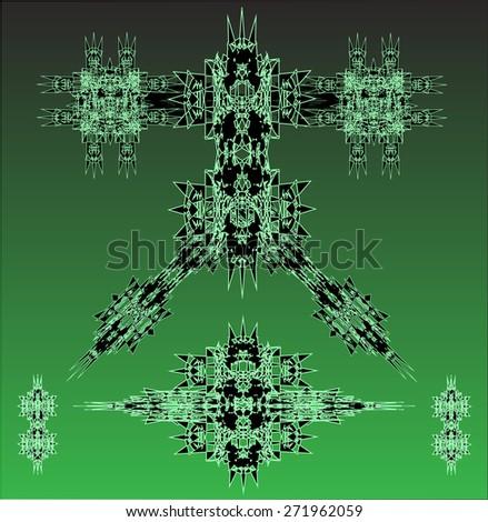 green robots vector set