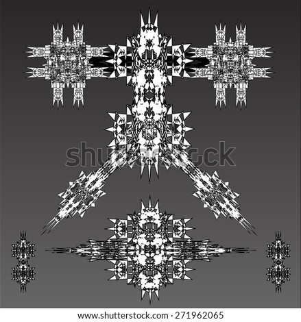 white robots vector set