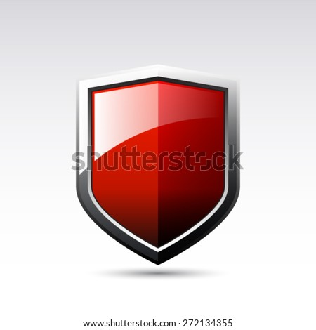 vector red shield