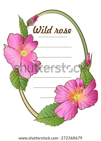 flower sticker with wild roses