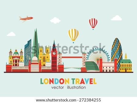 london detailed skyline vector