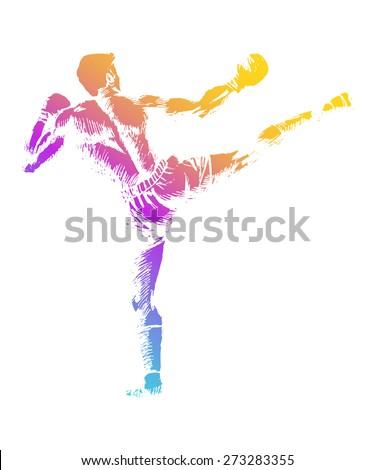 sketch illustration of a kick