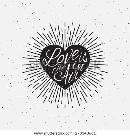 'love is in the air' vintage