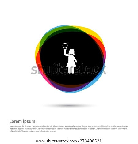 business women get an idea icon