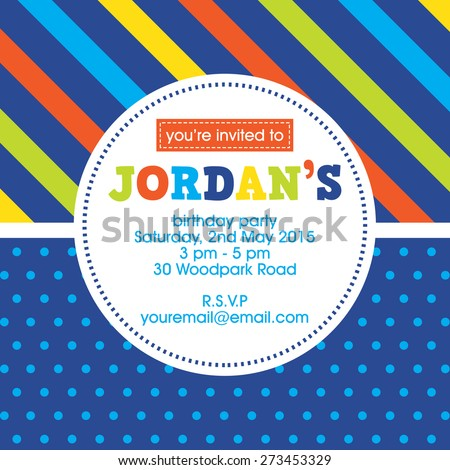 multi colored birthday invitation background free vector download