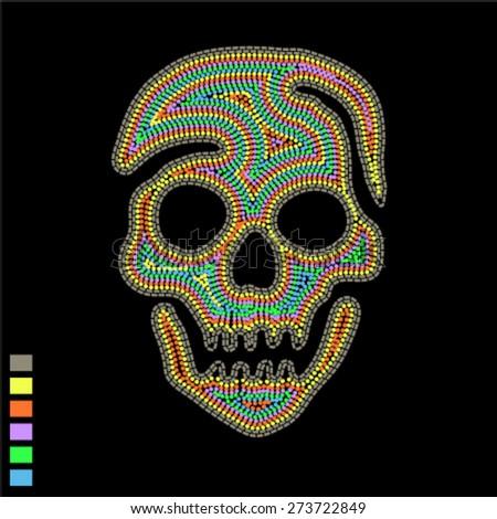 skull design for textile