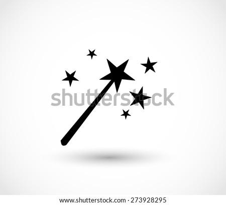 magic wand icon vector