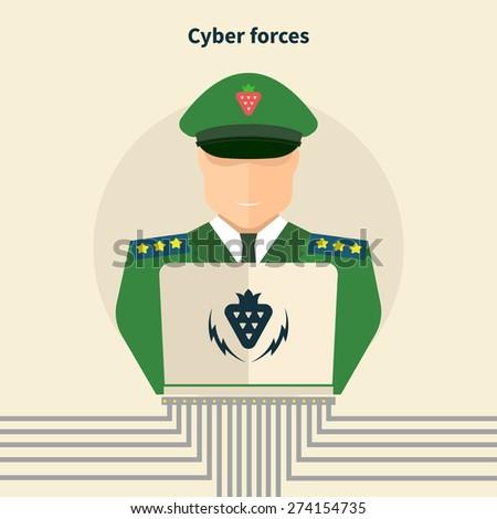cyber forces  hacker in service
