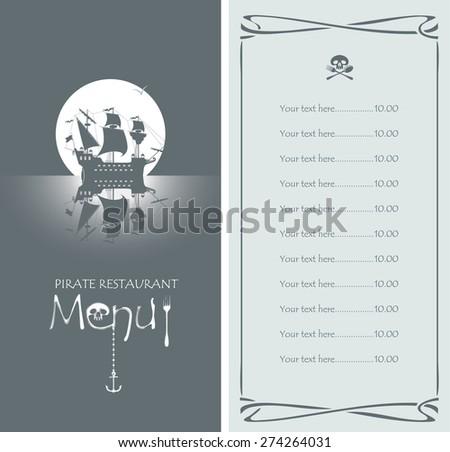 vectors menu with pirate