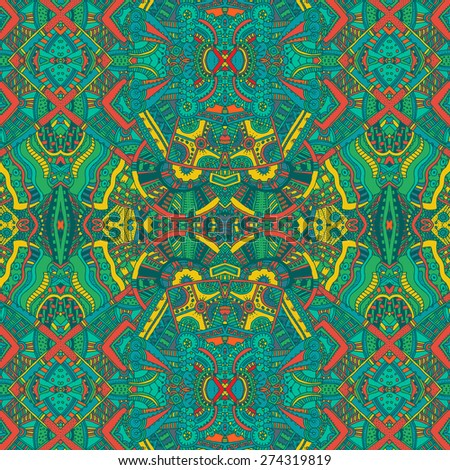 abstract multicolor ethnic