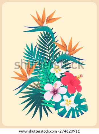 palm leaves and tropical