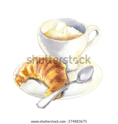vector sketch of croissant