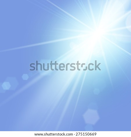 stock-vector-vector-illustration-of-bright-summer-sun-with-lens-flare-effect-in-blue-sky-for-your-design