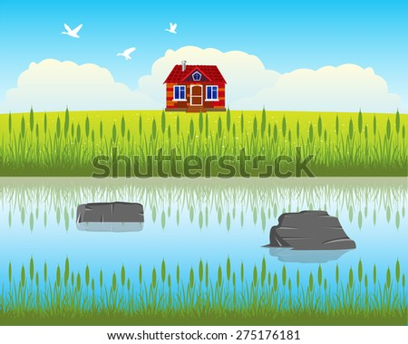 the house ashore calm and clean