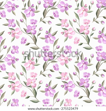 spring flowers seamless floral