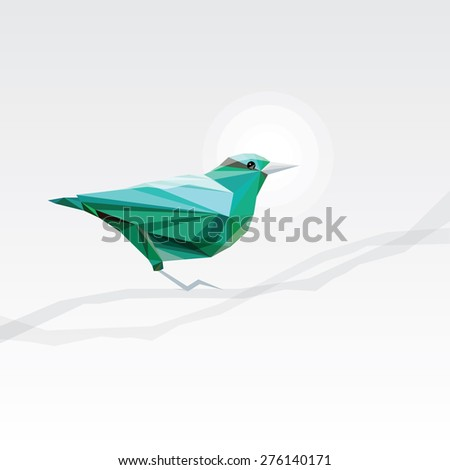 abstract turquoise triangular