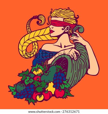 blindfolded goddess of fortune
