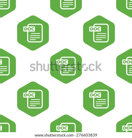 vector image of doc file in