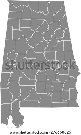 vector map of counties of