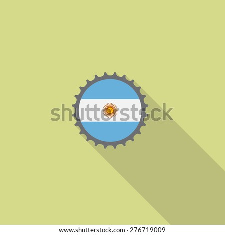 argentina bottle cap flat icon