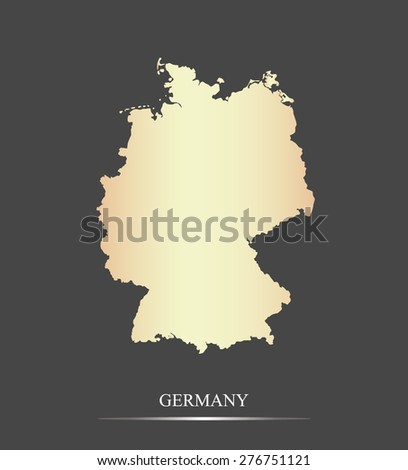 germany map outlines in an