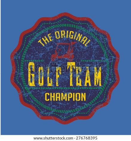 golf team sports vector art