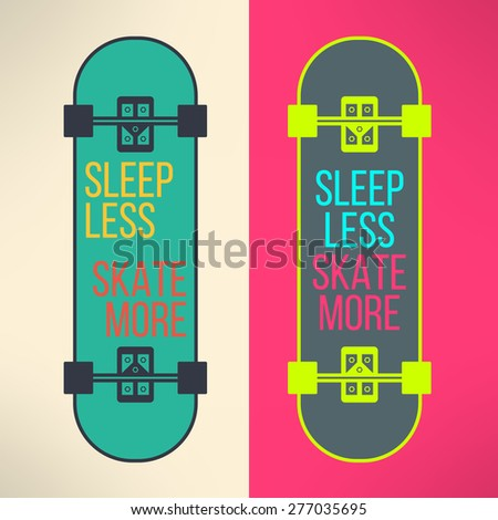vector skateboard background