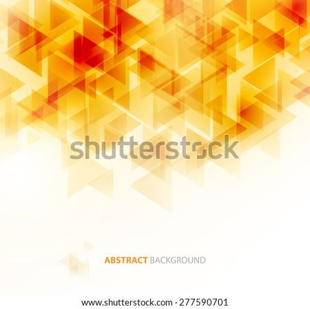 orange shiny triangle shapes
