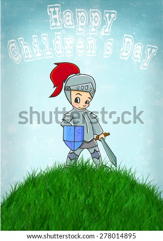 knight card happy childrens day