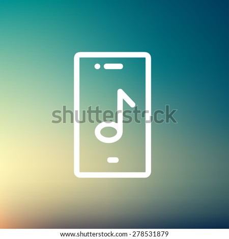 phone with musical note icon