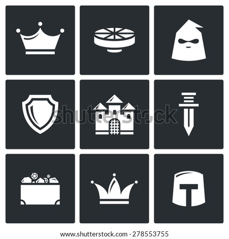 kingdom icons vector